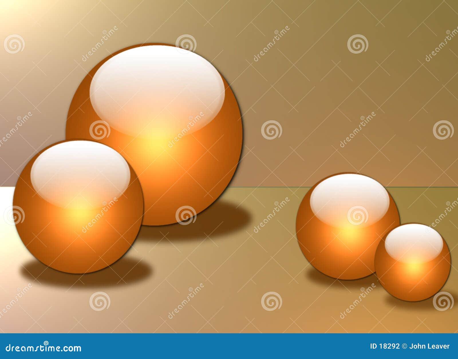 Sphères en verre