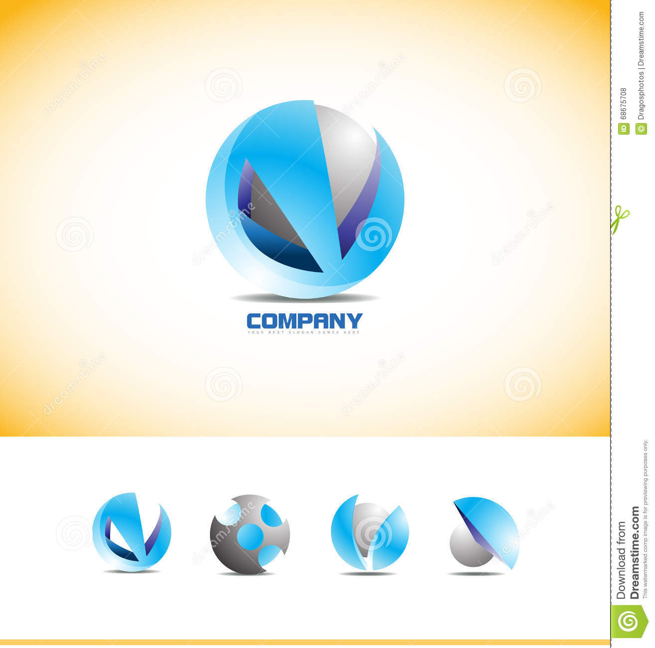 Sphere 3d logo design stock vector image of icon media for Global design company