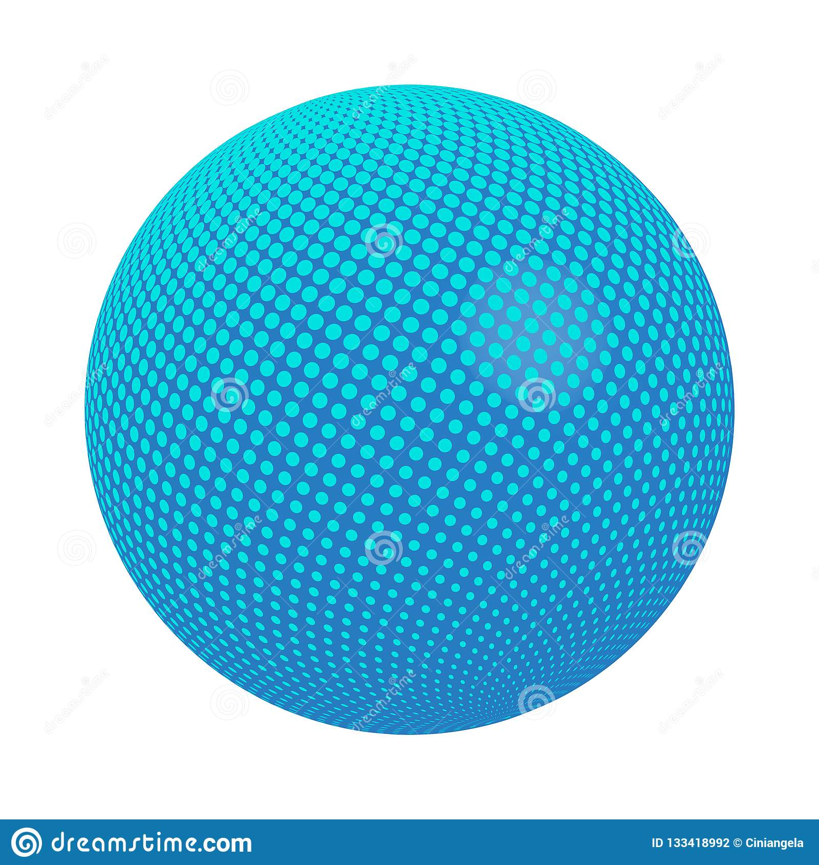 Dot Sphere Logo Template Globe Vector Icon:  Sphere With Dots Vector Stock Vector . Illustration Of