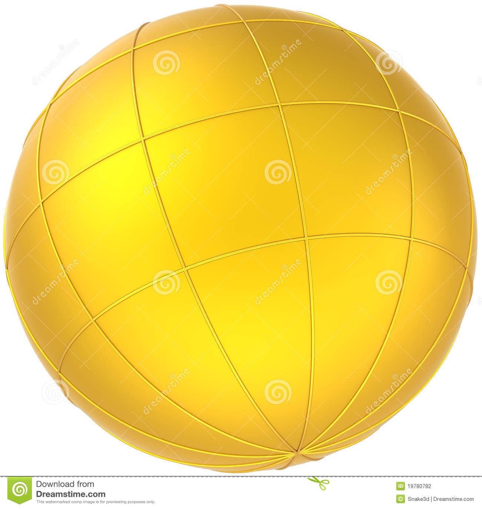 Sphere för planet för jordjordklot guld-