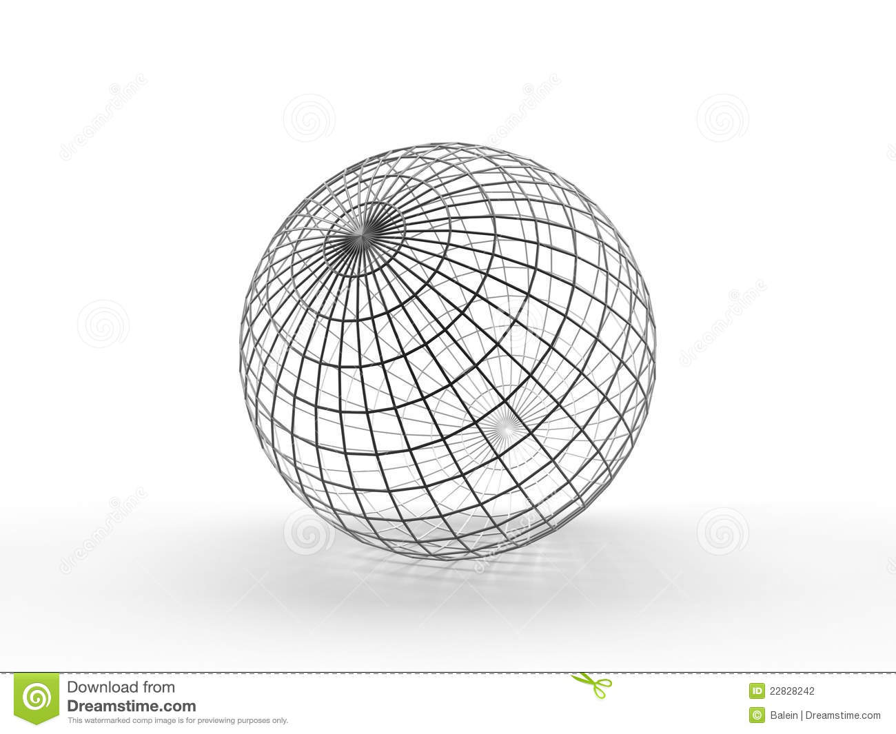 Sphere. Thin Wireframe Stock Photography
