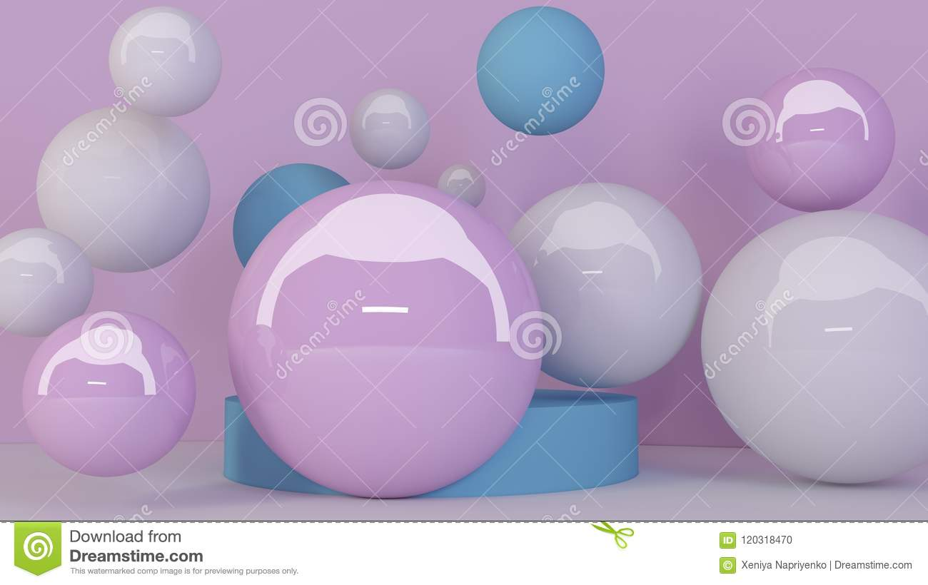 spheres background abstract wallpaper flying geometric shapes trendy modern illustration d rendering bubbles falling balls 120318470