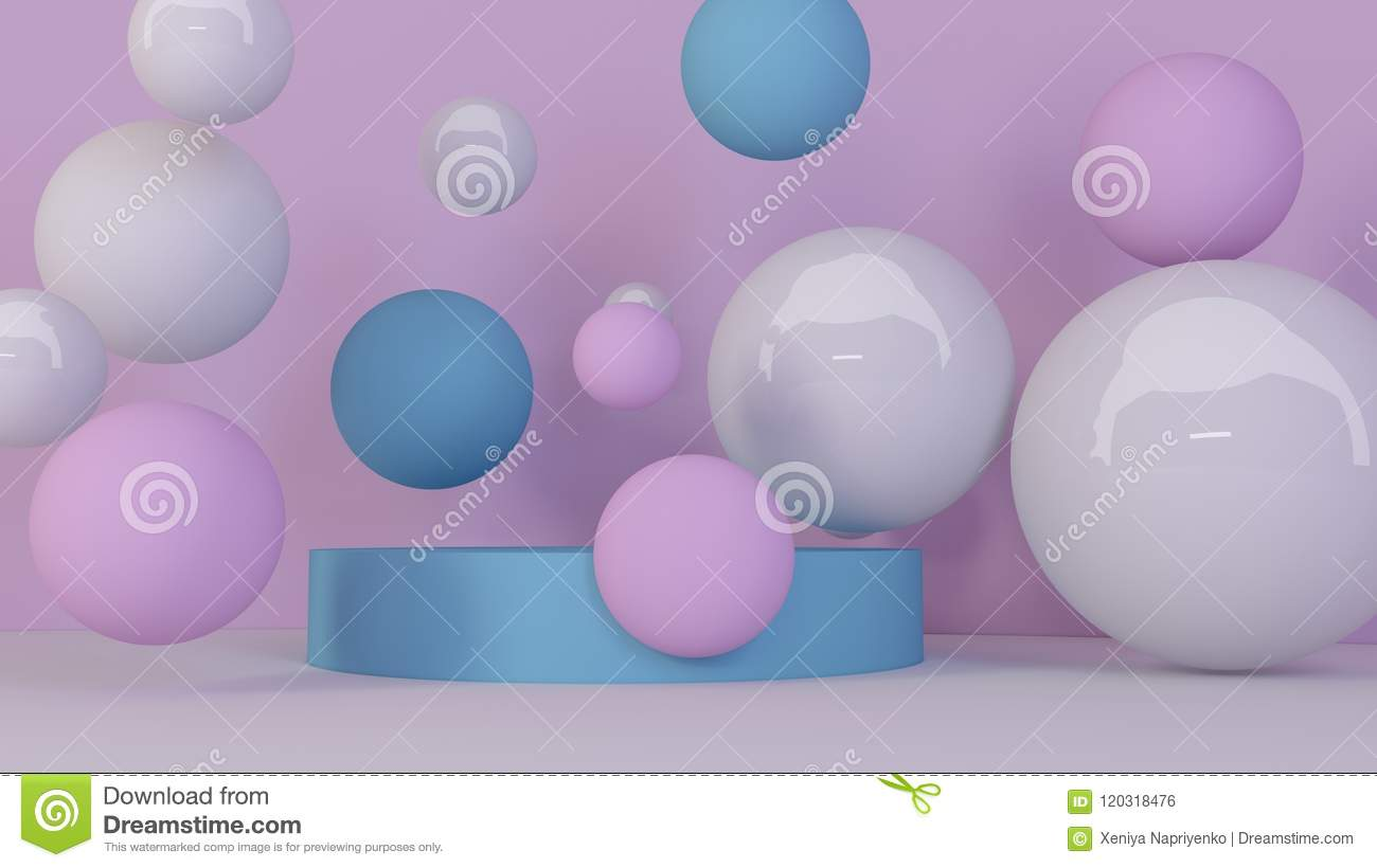 spheres background abstract wallpaper flying geometric shapes trendy modern illustration d rendering bubbles falling balls 120318476