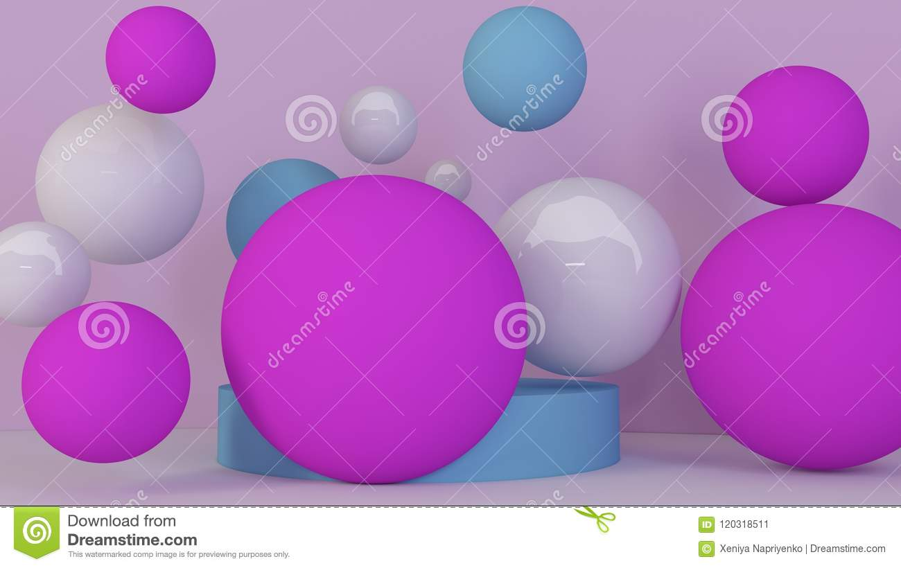 spheres background abstract wallpaper flying geometric shapes trendy modern illustration d rendering d bubbles spheres background 120318511
