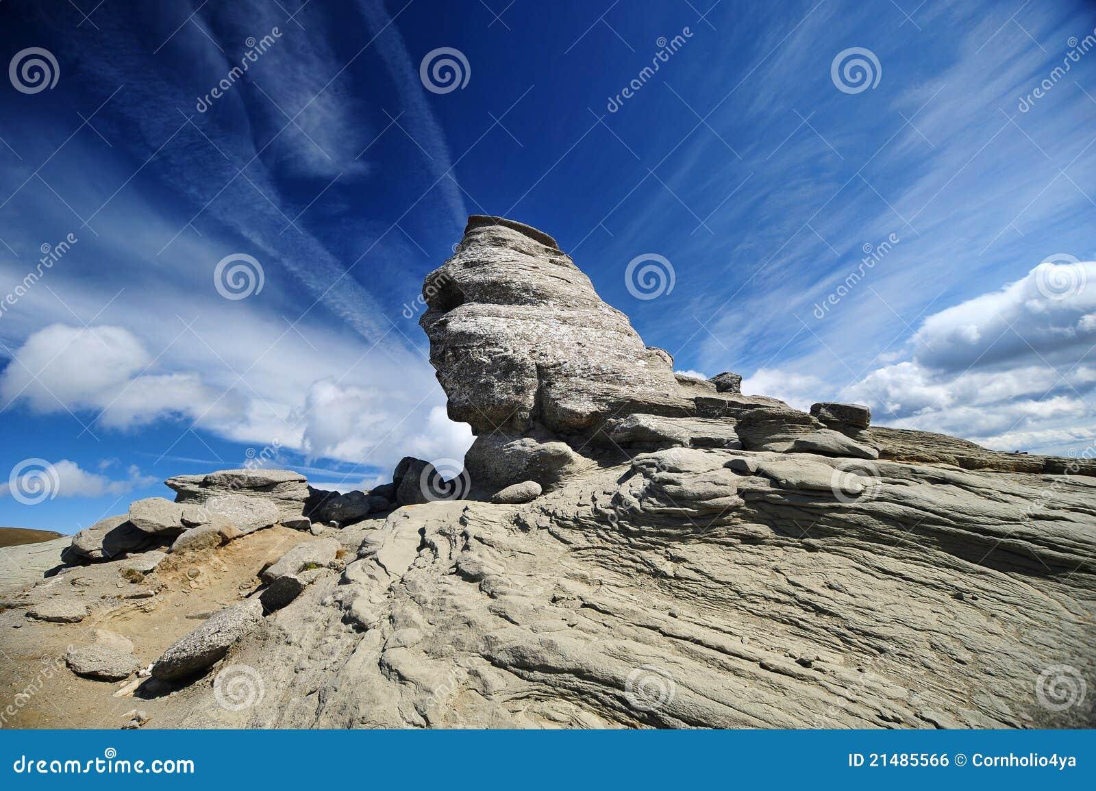 Sphinx of Bucegi in Romania