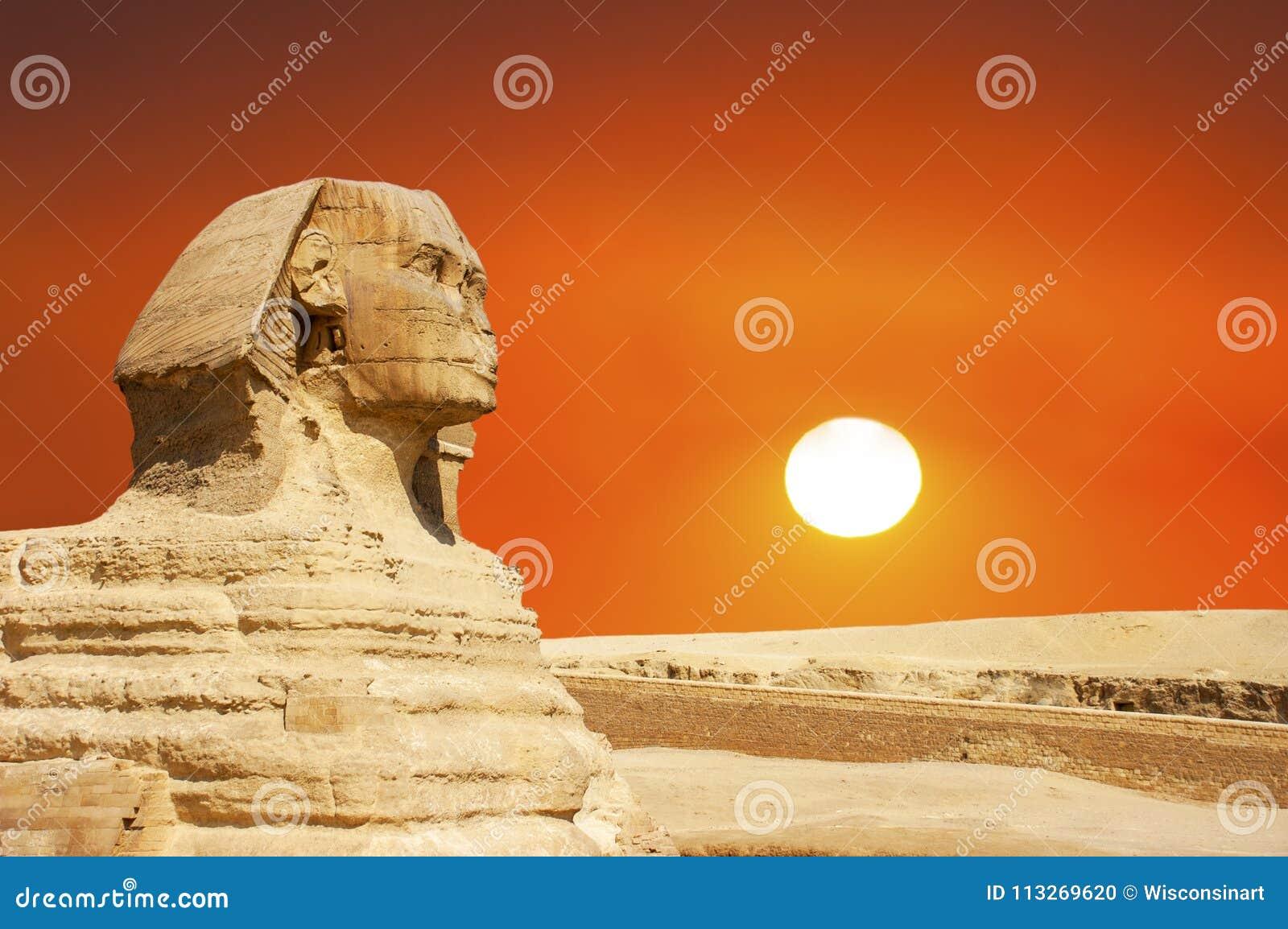 Sphinx, Giza, Cairo Egypt Travel, Sunrise, Sunset