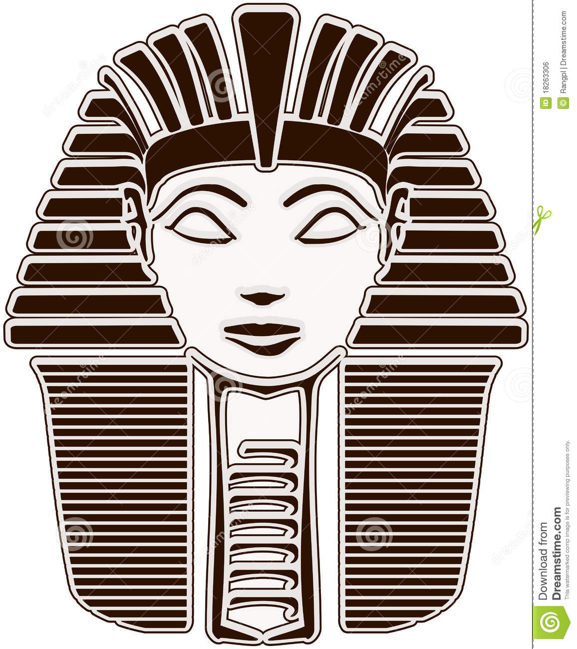 sphinx head   hatshepsut stock illustration illustration