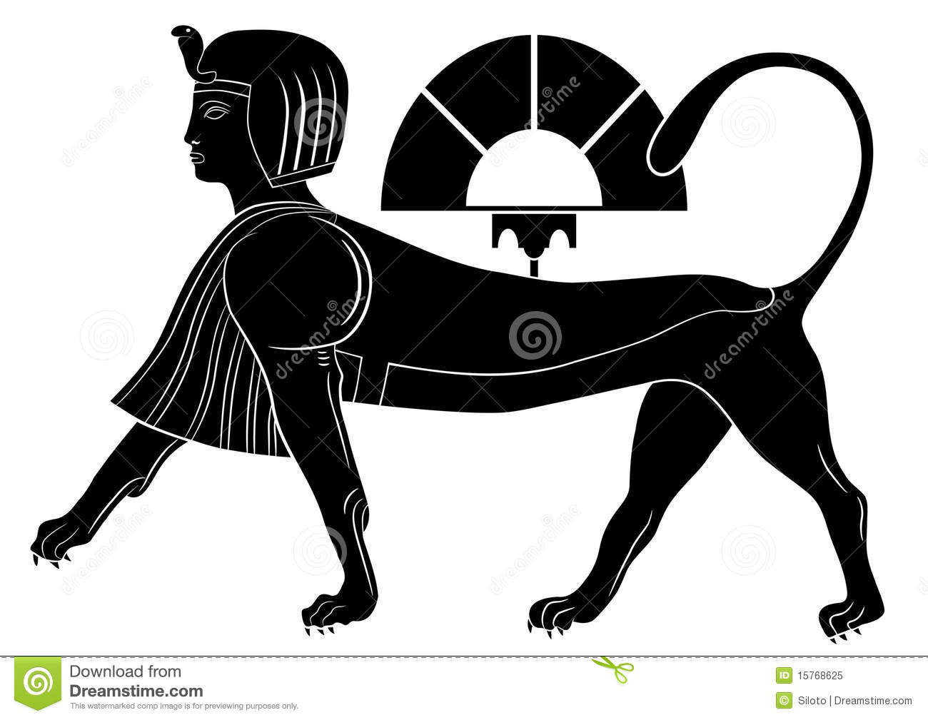 Sphinx - Mythical Creatures Stock Vector - Illustration of africa