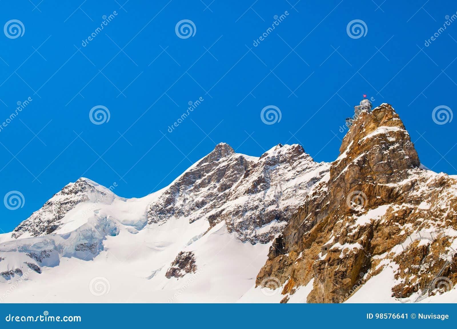 Sphinx Observatory, Jungfrau, Switzerland Stock Image
