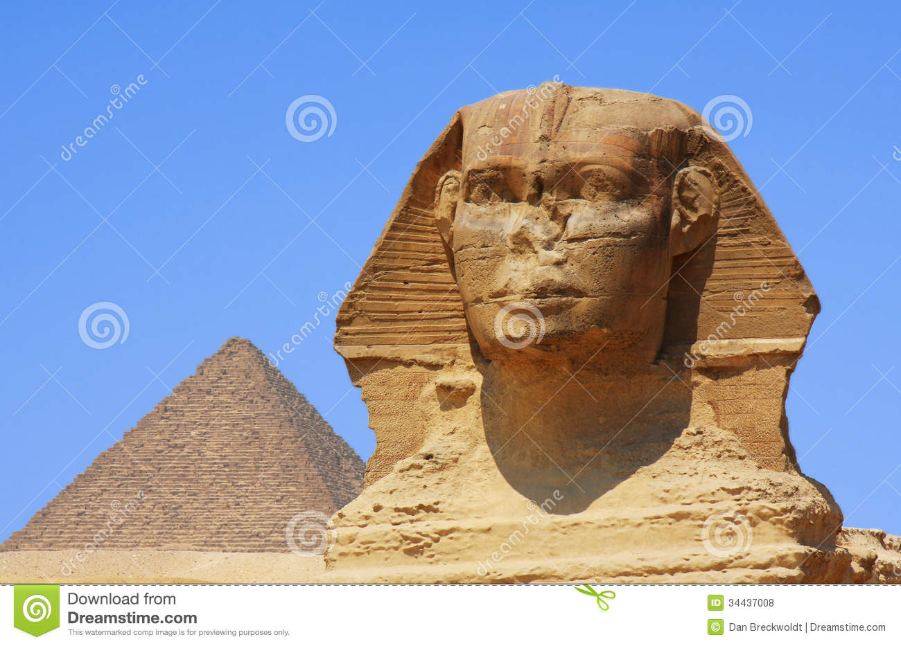 The Sphinx And Pyramid In Egypt Royalty Free Stock Photos - Image ...