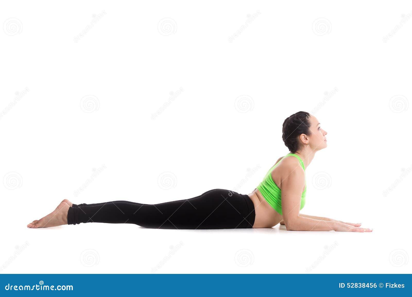 Download Sphinx Yoga Pose Stock Photo Image Of Bhujangasana Cobra