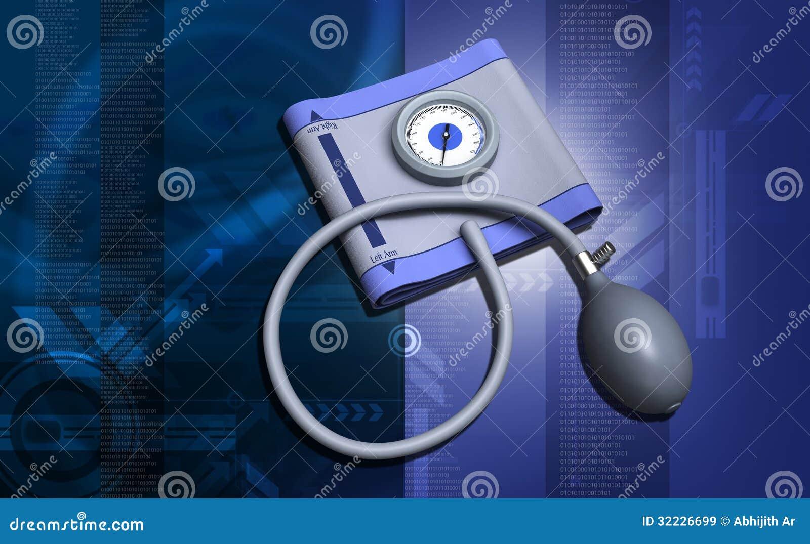 Download Sphygmomanometer ilustração stock. Ilustração de saudável - 32226699