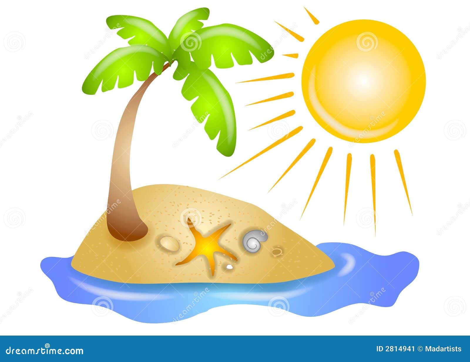 Spiaggia abbandonata Sun dell isola
