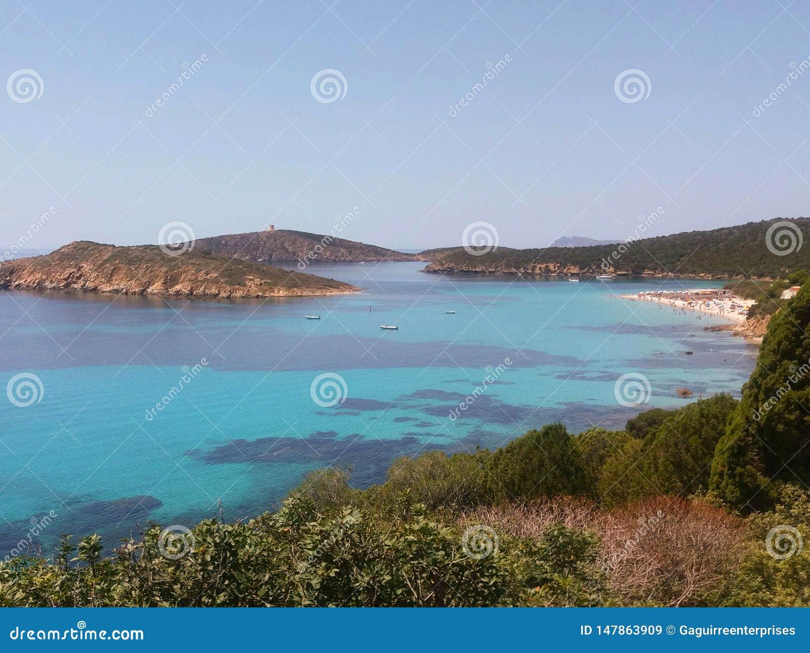 Spiaggia a Cagliari, Sardegna