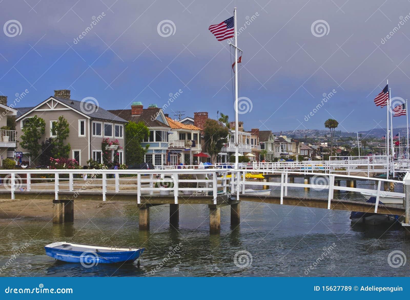 Spiaggia California dell isola della balboa, Newport