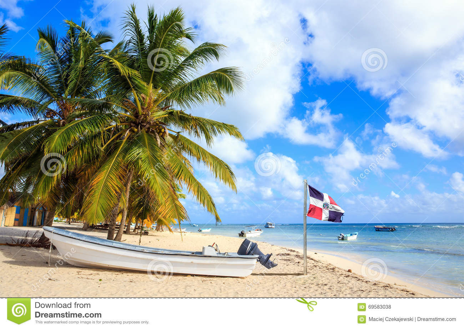 Spiaggia caraibica nella Repubblica dominicana