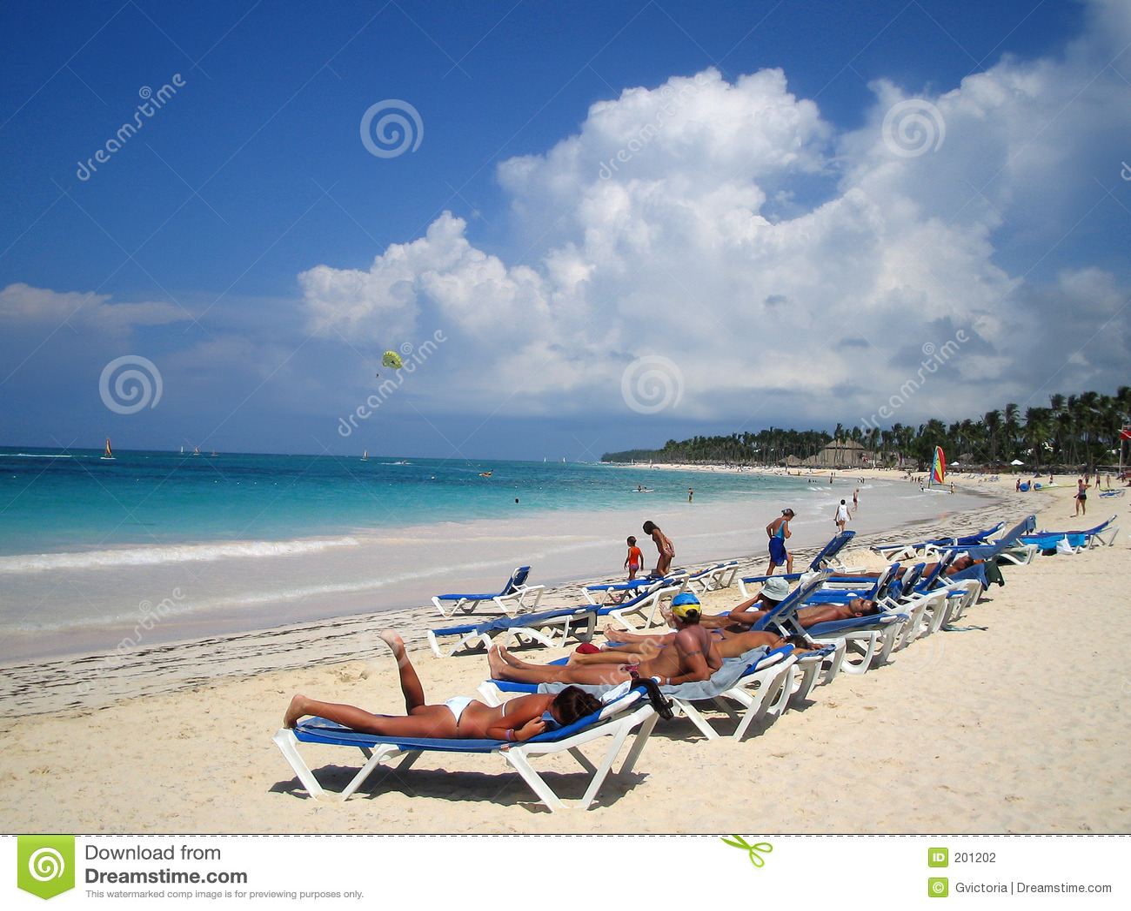 Spiaggia caraibica tropicale