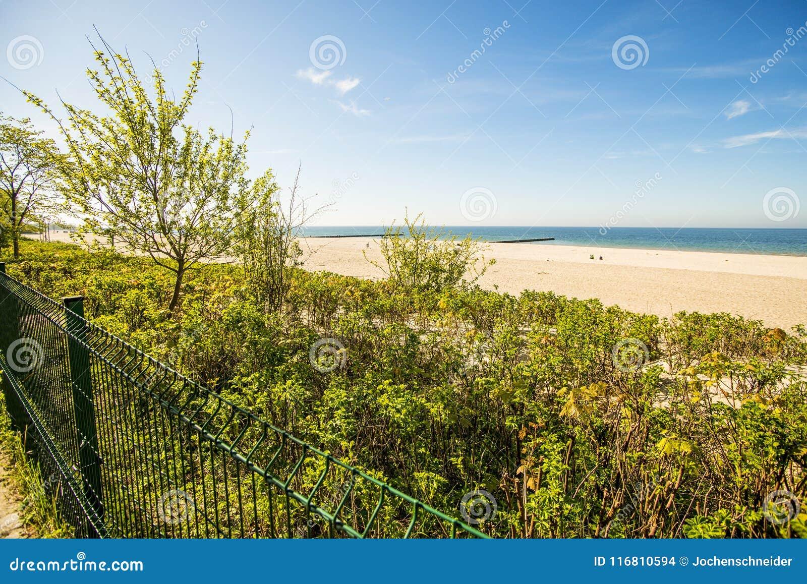 Spiaggia del Mar Baltico in Polonia, Ustka