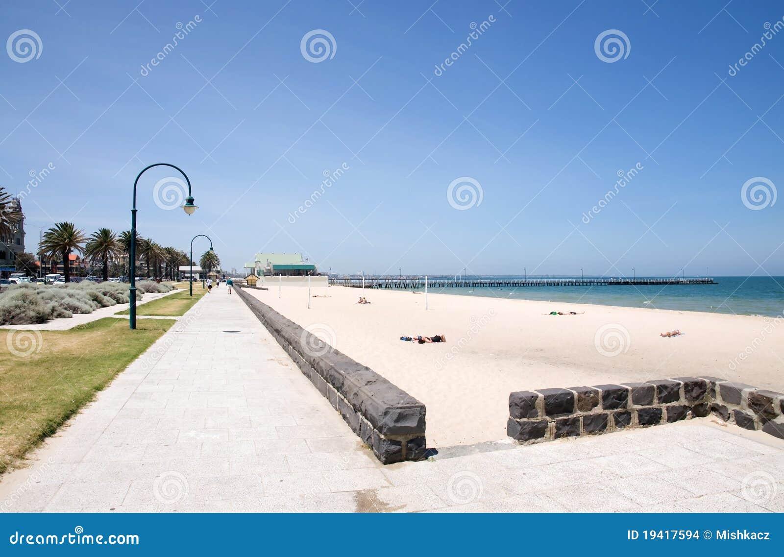 Spiaggia della città di Melbourne