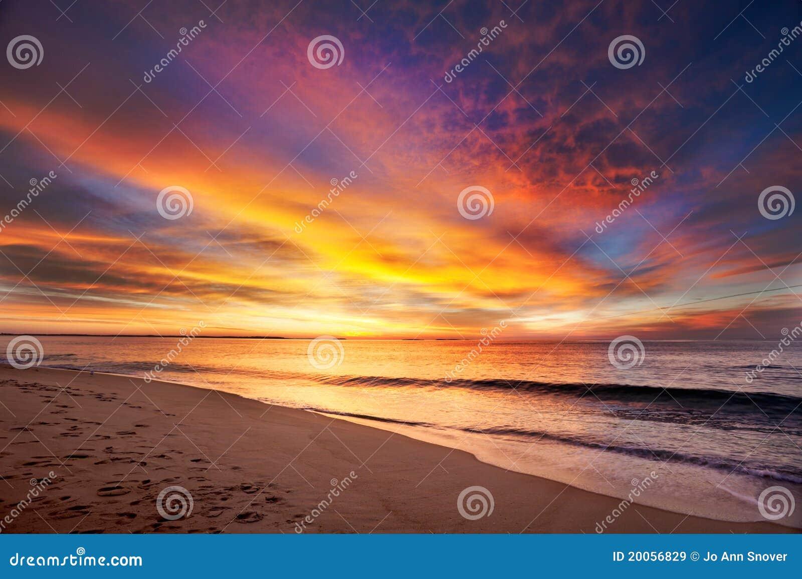 Spiaggia della Maine prima dell alba