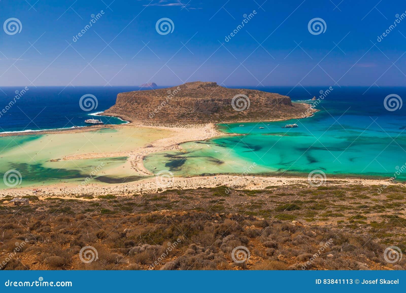 Spiaggia di Balos e laguna, prefettura di Chania, Creta ad ovest, Grecia