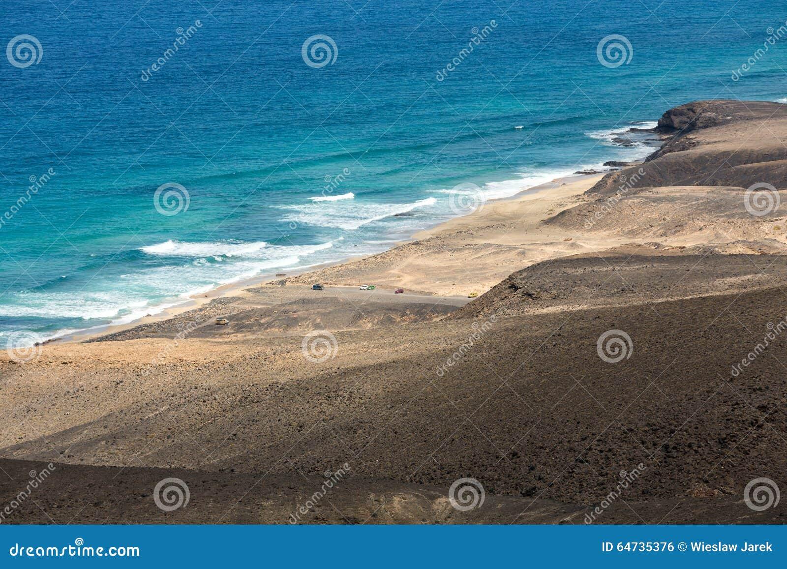 Spiaggia di Cofete, vista dalla penisola di Jandia, Fuerteventura
