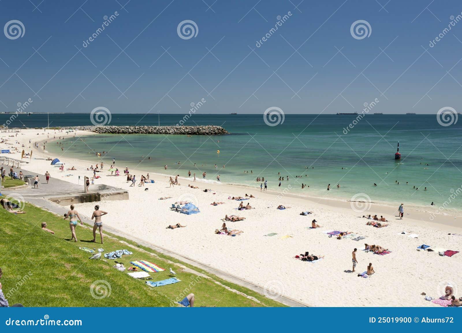 spiaggia di cottesloe perth australia occidentale fotografia stock immagine di australia. Black Bedroom Furniture Sets. Home Design Ideas