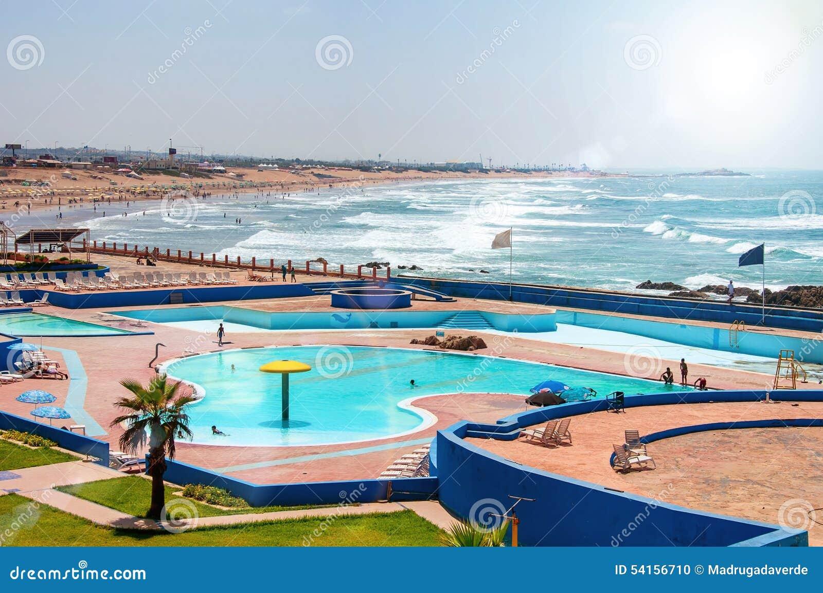 Spiaggia di estate marocco di casablanca fotografia stock - Marocco casablanca ...