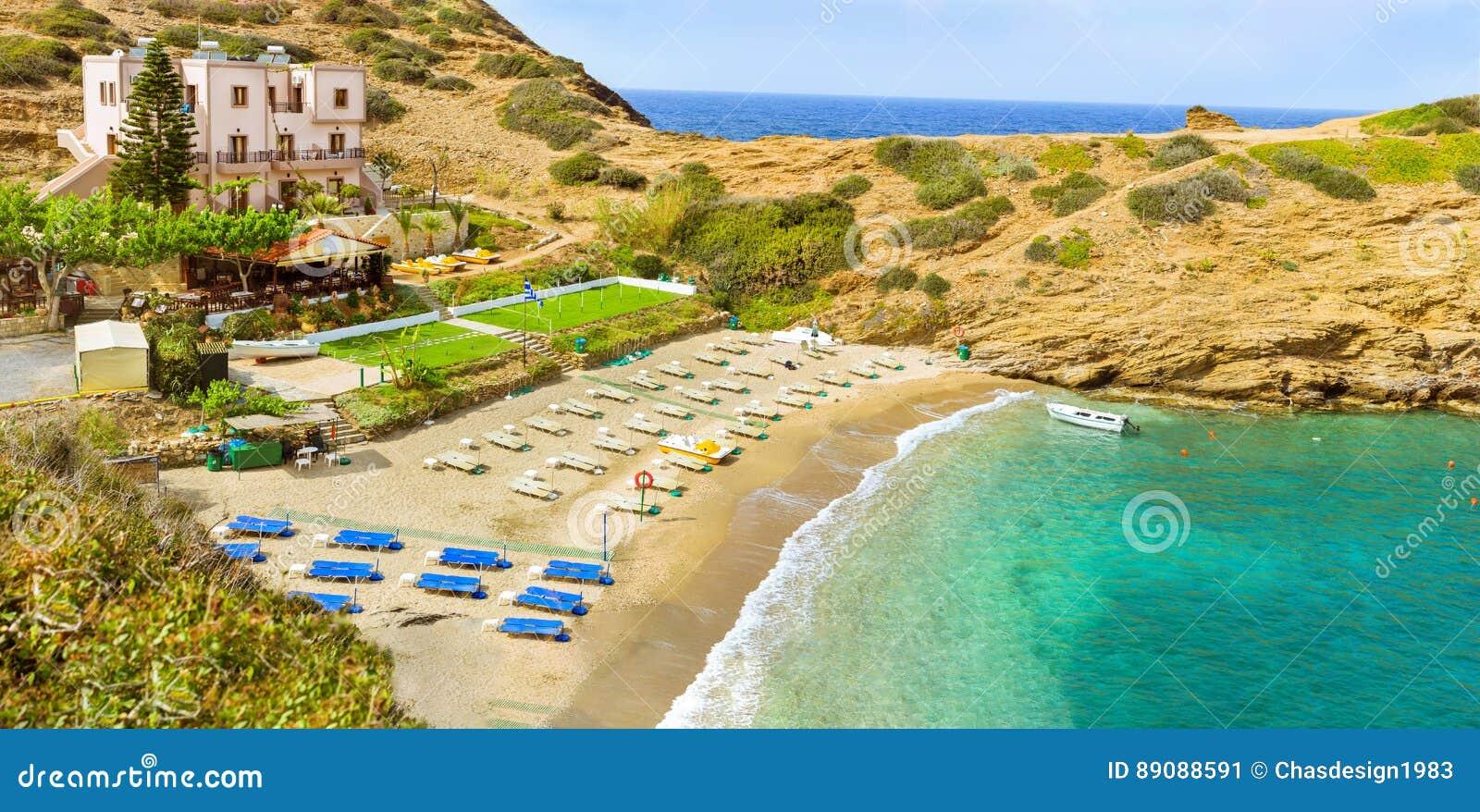 Spiaggia Di Karavostasi & Di Evita Nella Località Di Soggiorno Bali ...
