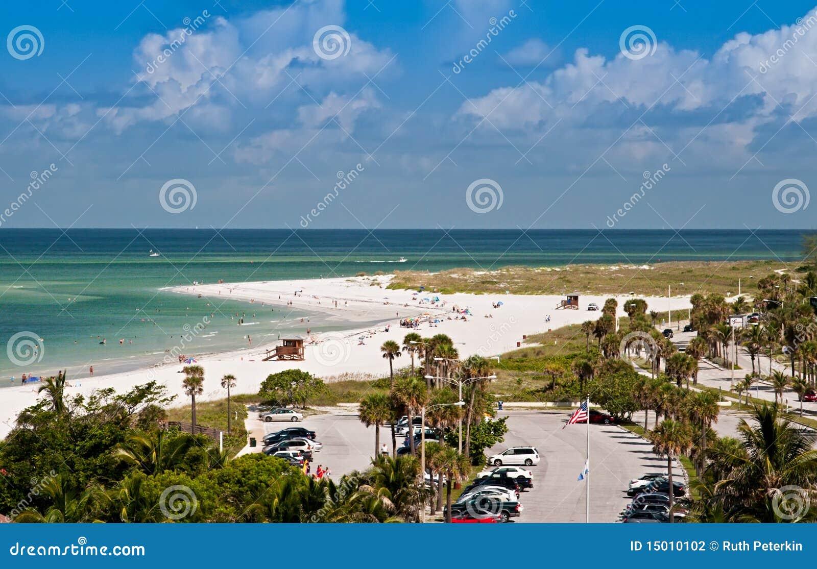 Spiaggia Di Lido A Sarasota Florida Fotografia Stock