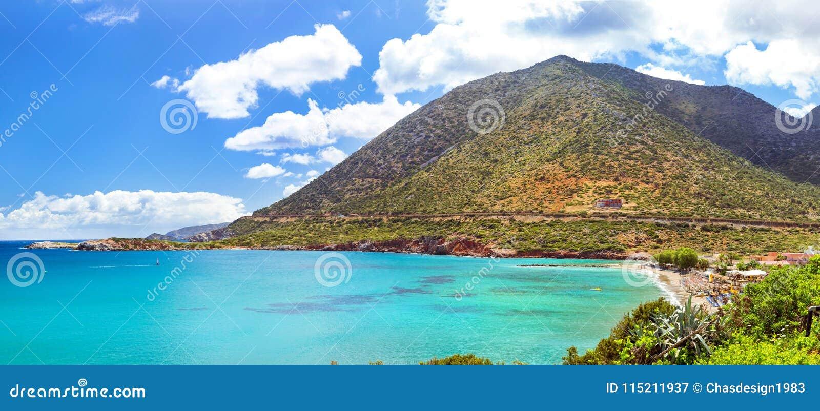 Spiaggia Di Livadi Nella Baia Del Mare, Villaggio Bali Creta Della ...