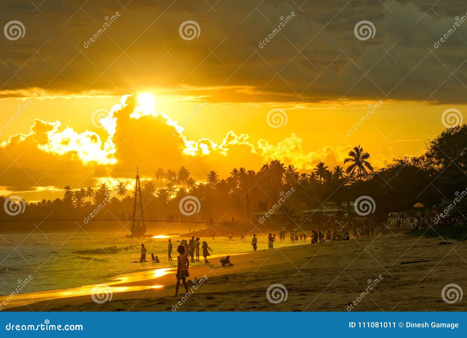 Spiaggia di Matara in Sri Lanka