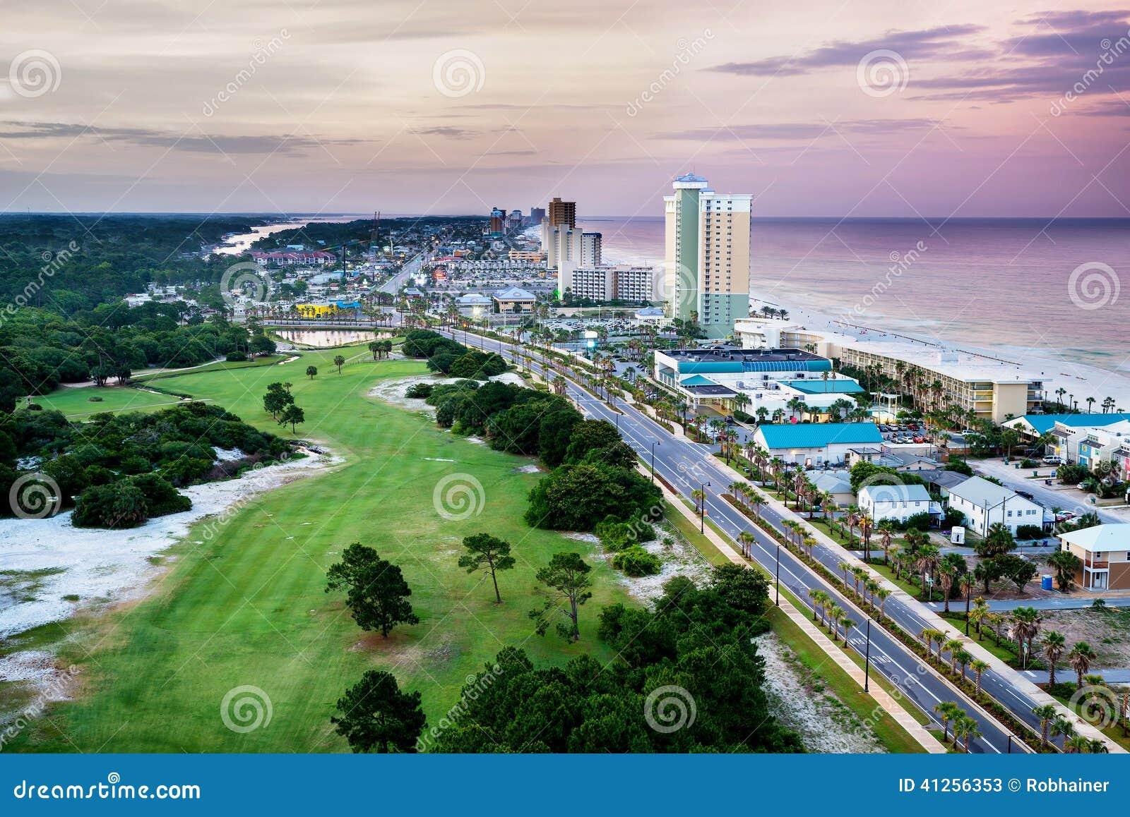 Spiaggia di Panamá, Florida, punto di vista di Front Beach Road