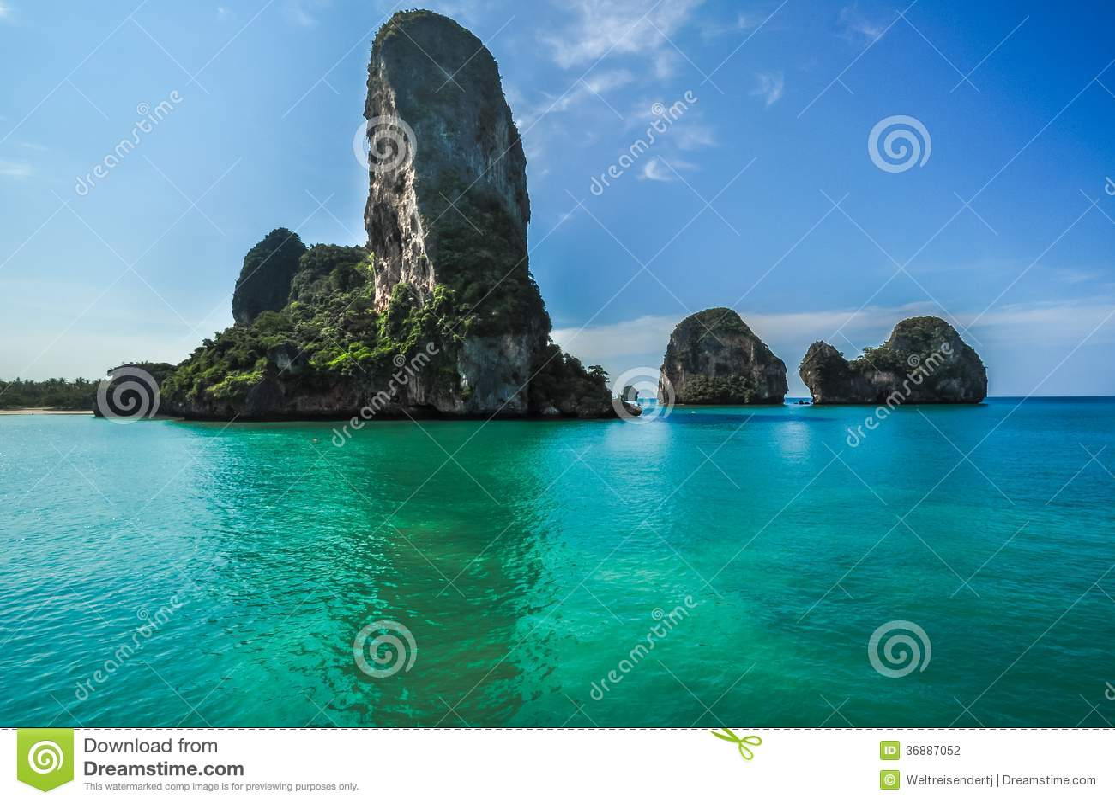 Download Spiaggia Di Phra Nang, Tailandia, Provincia Di Krabi, Immagine Panoramica Fotografia Stock - Immagine di scogliera, nave: 36887052