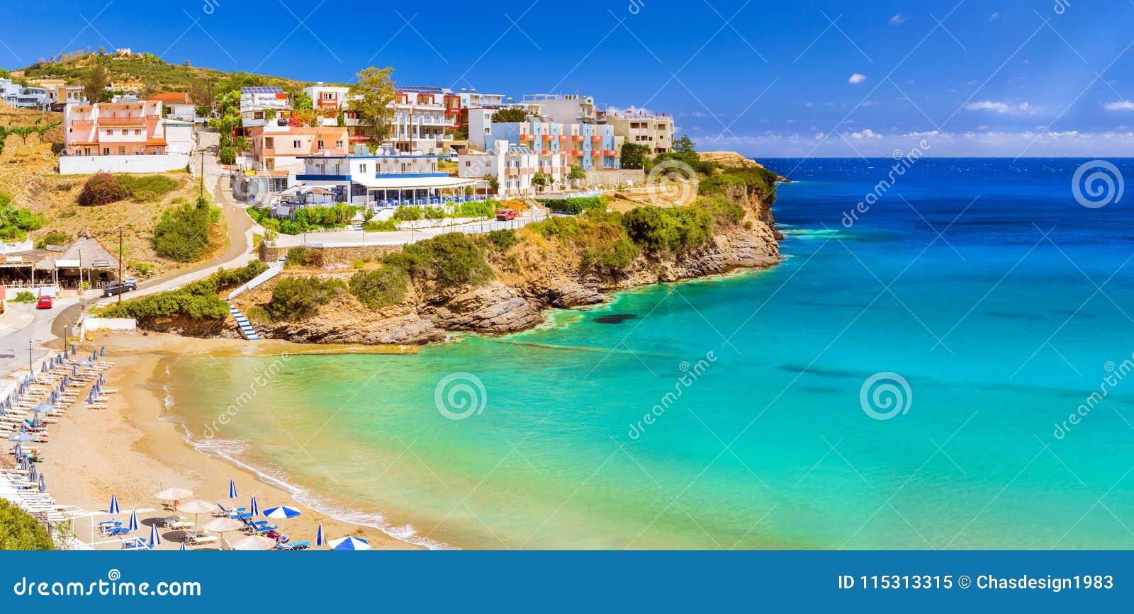 Spiaggia Di Sandy Varkotopos, Località Di Soggiorno Bali Crete ...
