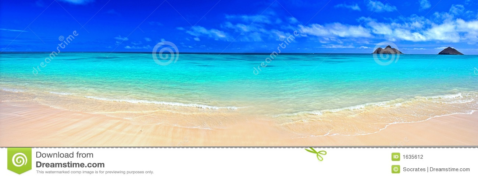 Spiaggia di sogno di panorama