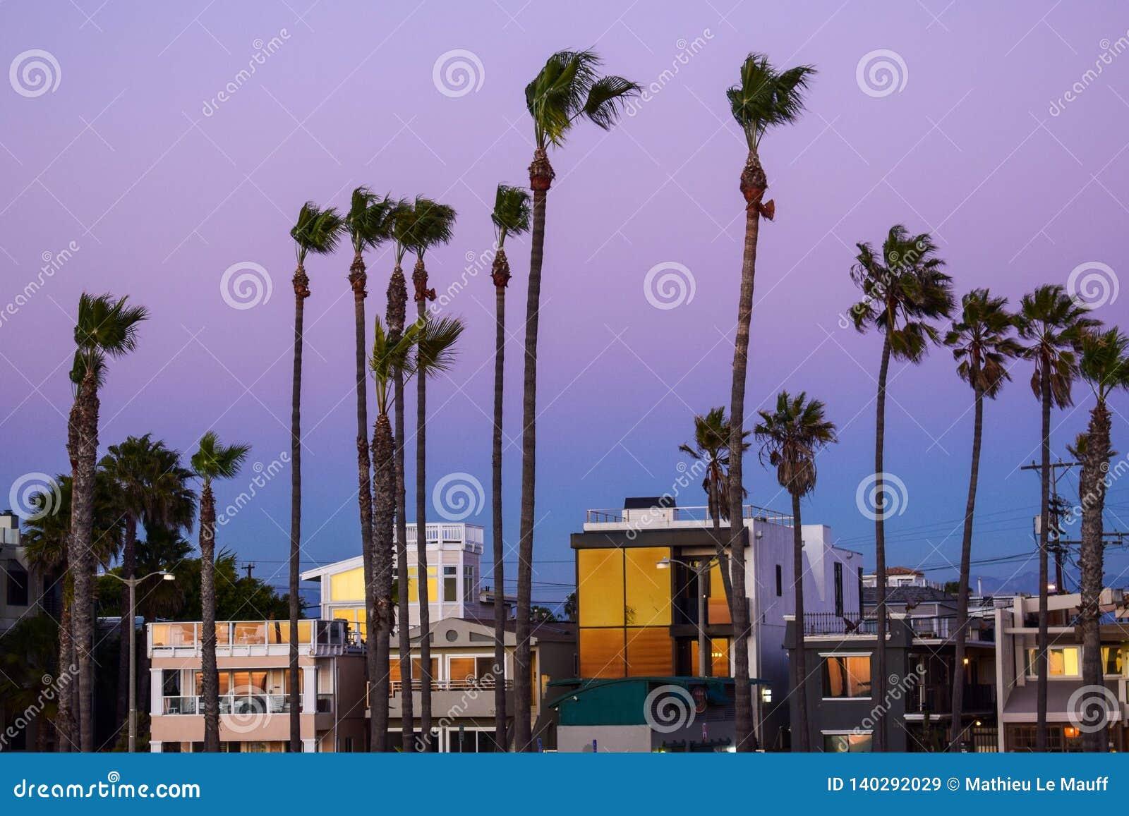 Spiaggia di Venezia al crepuscolo