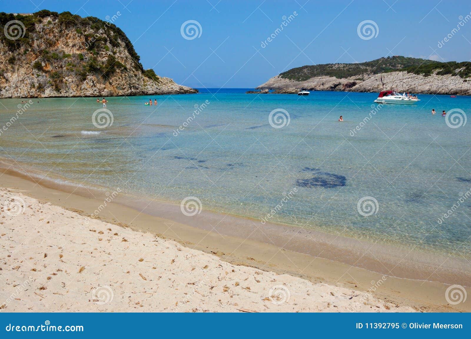 Spiaggia di voidokilia geece fotografia stock libera da for 3 piani di design da spiaggia