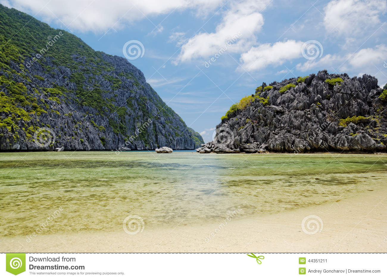 Spiaggia isolata (EL Nido, Filippine)