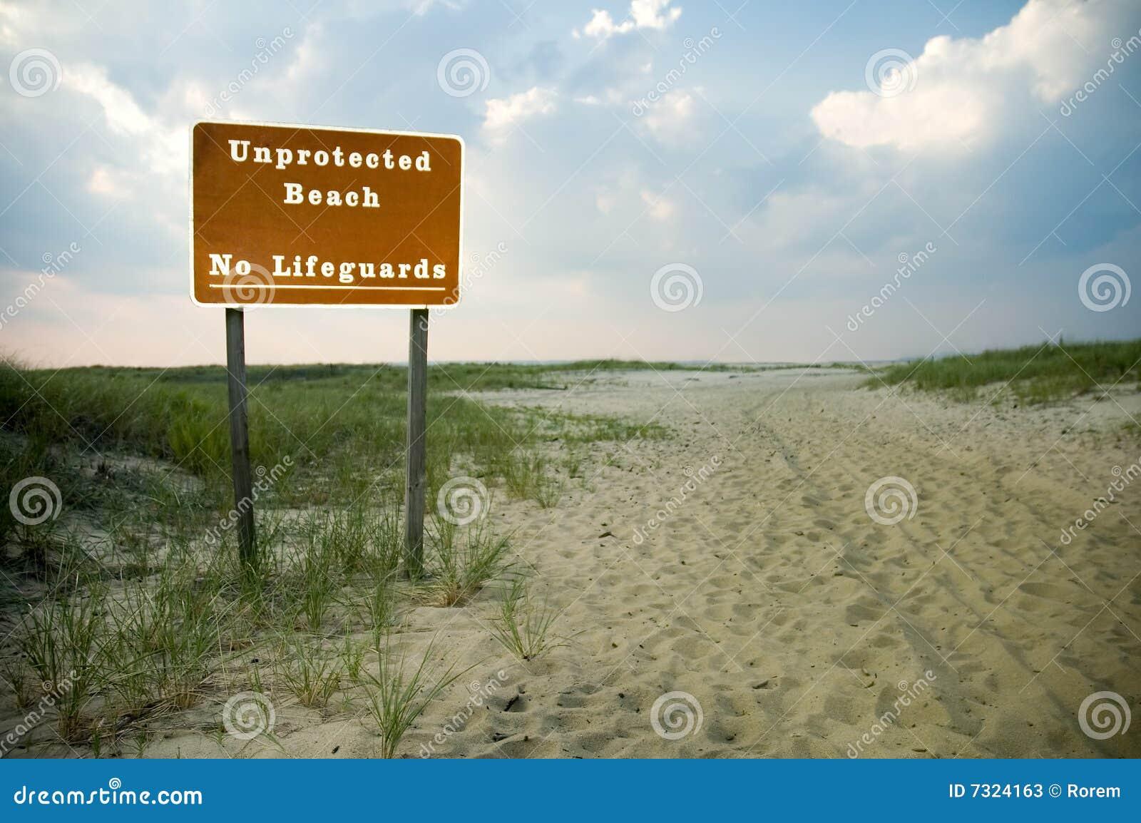 Spiaggia non protetta