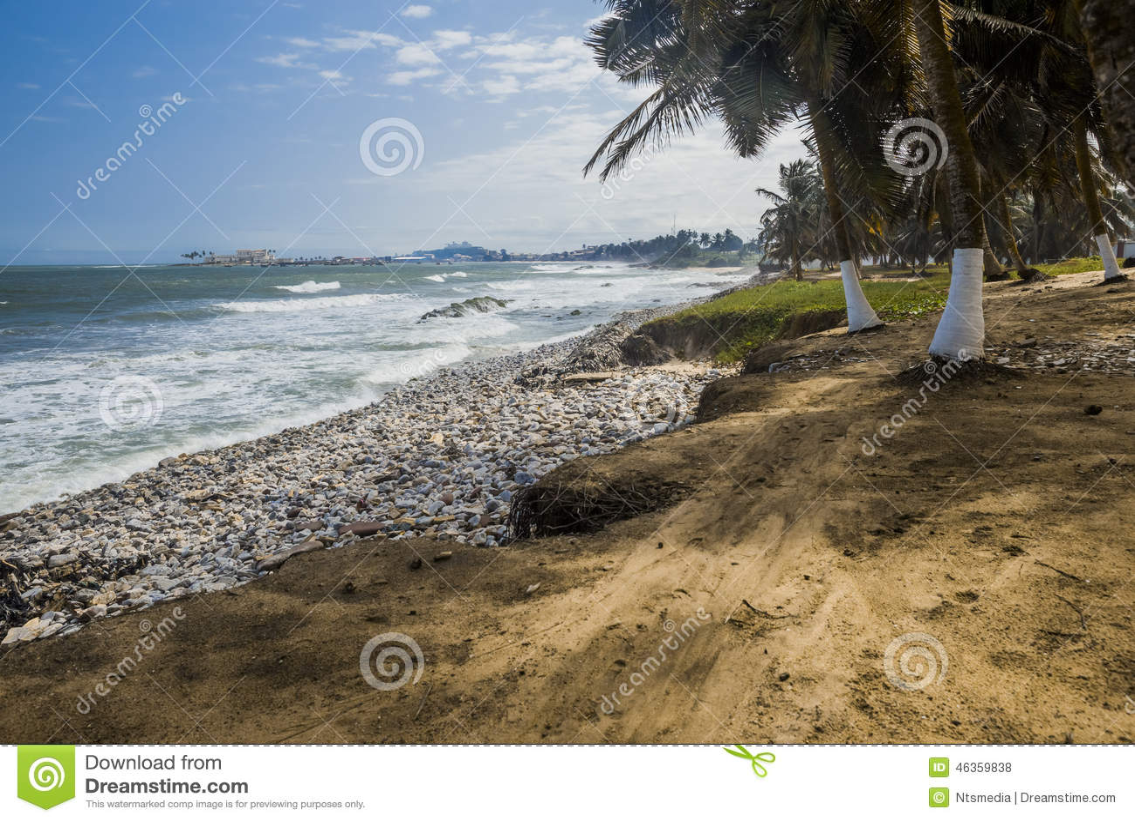Spiaggia selvaggia nel Ghana