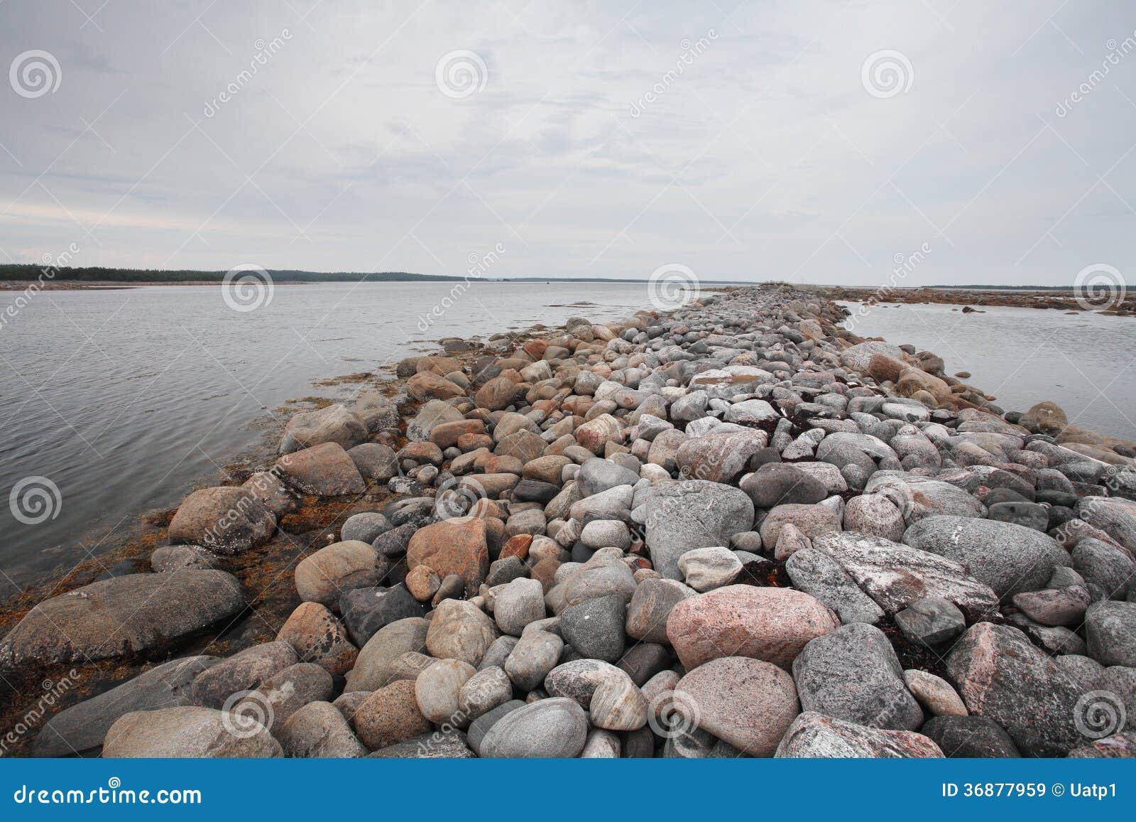 Download Spiaggia Sull'isola Di Solovetsky, Russia Immagine Stock - Immagine di russo, bellezza: 36877959