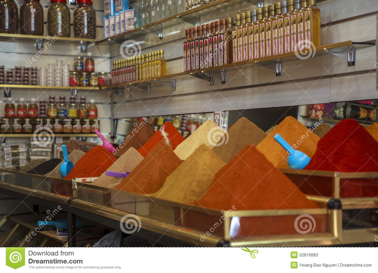 SPICE MARKET IN MARRAKECH editorial stock photo. Image of ...