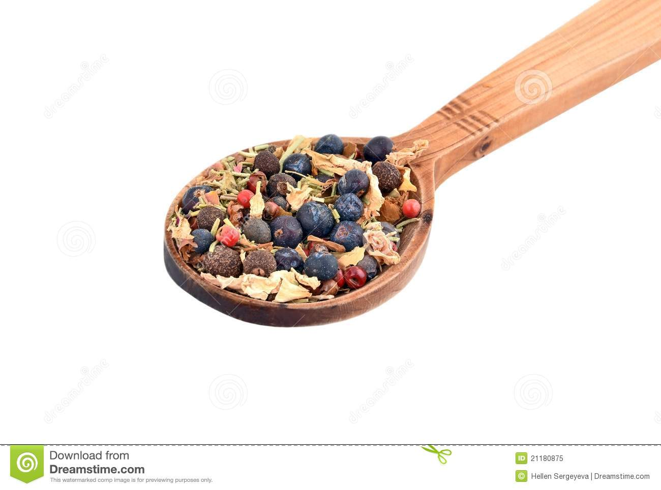 Spice mix in spoon