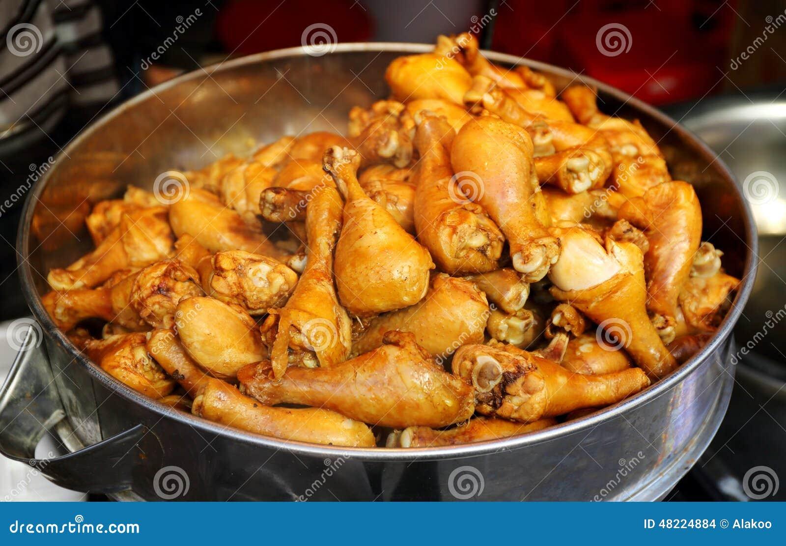 Spiced Kurczak Noga Egzotyczna Azjatycka Chińska Kuchnia