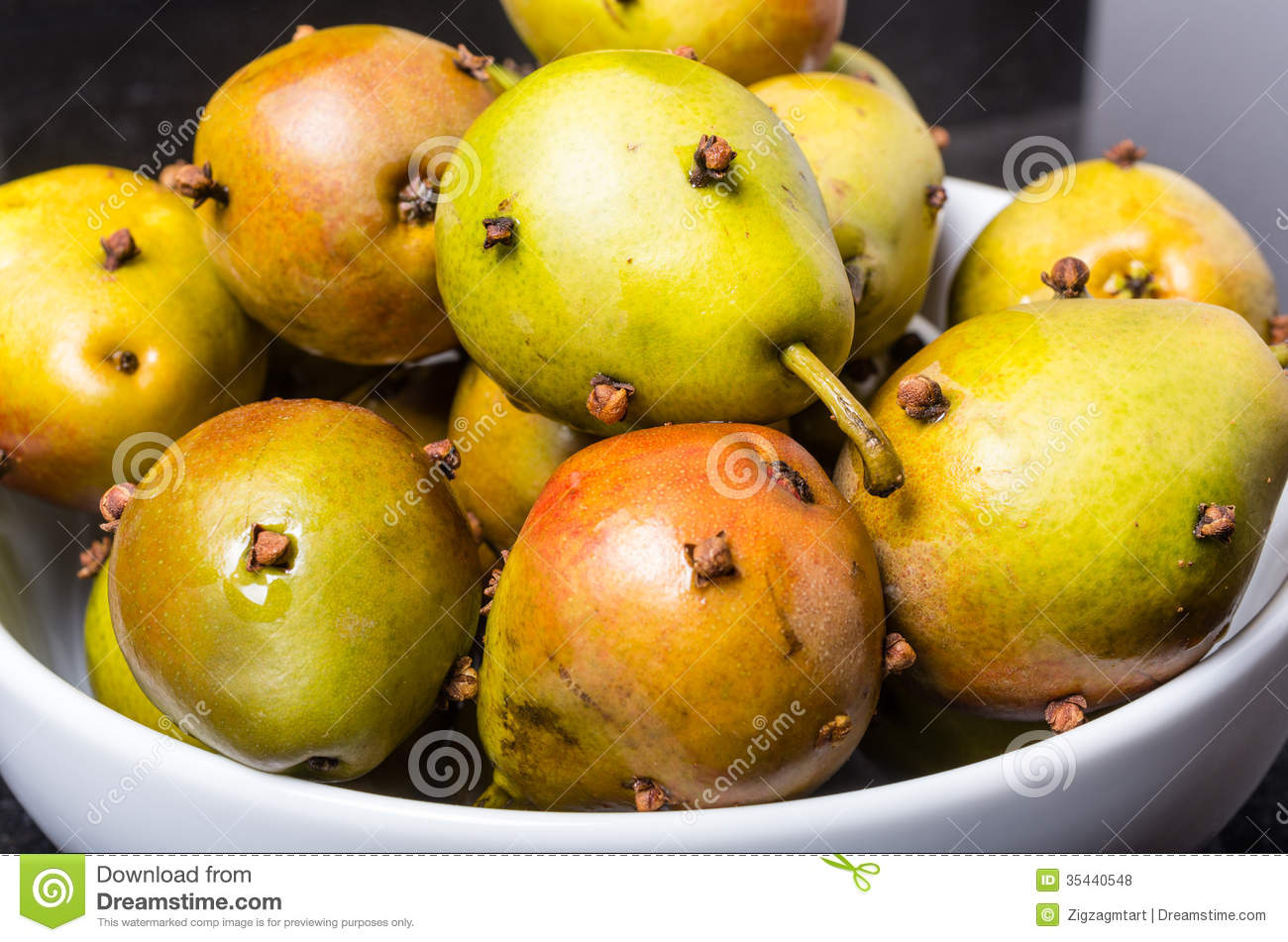 Spiced Seckel Pears Being Preserved Royalty Free Stock Photos - Image ...