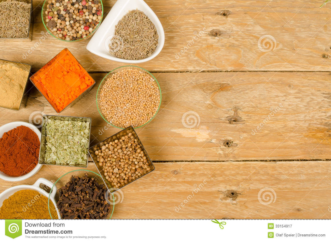 Spices Background Stock Image Image Of Copy Menu Life