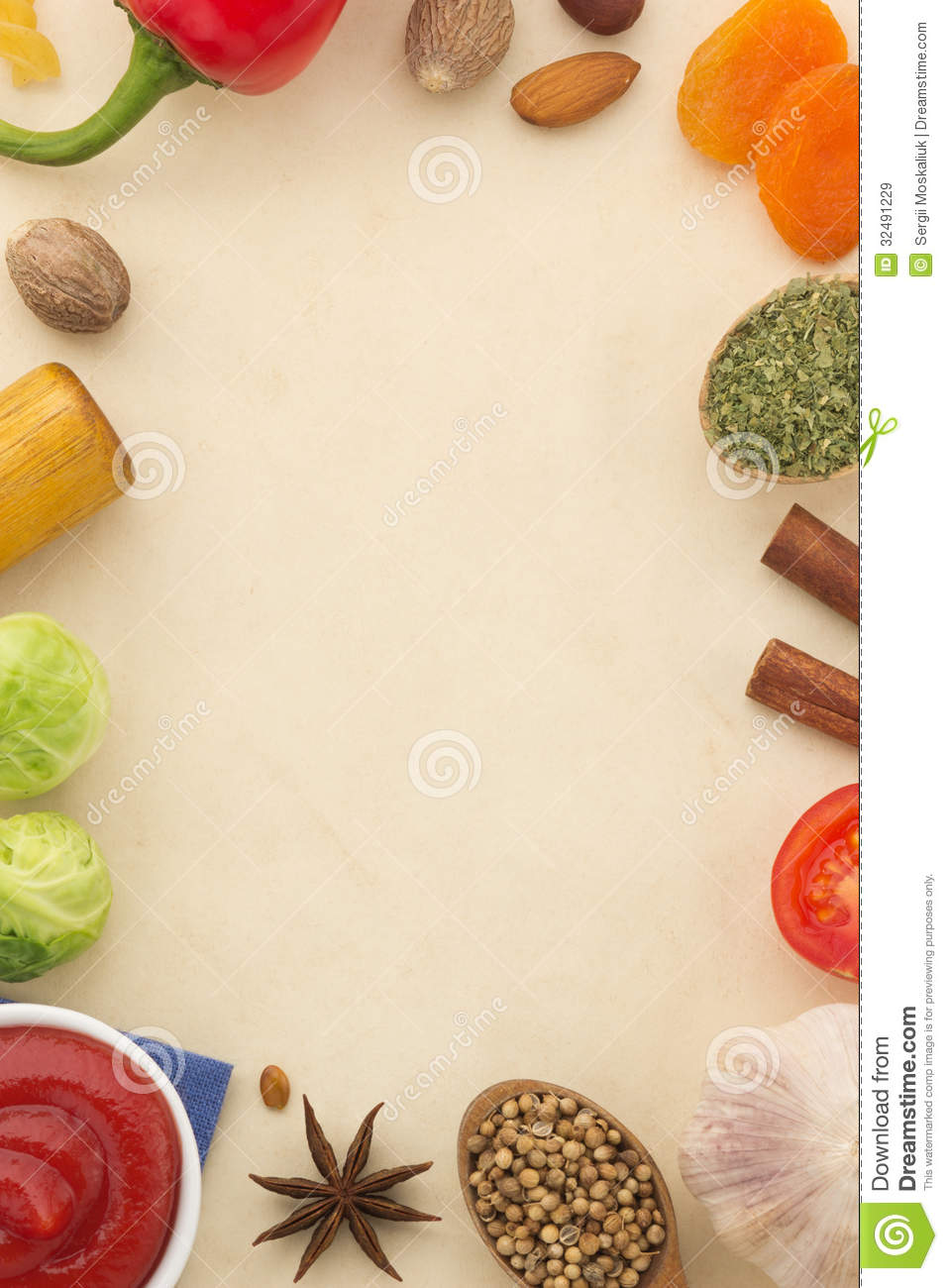 spices background and food stock image image of natural 32491229