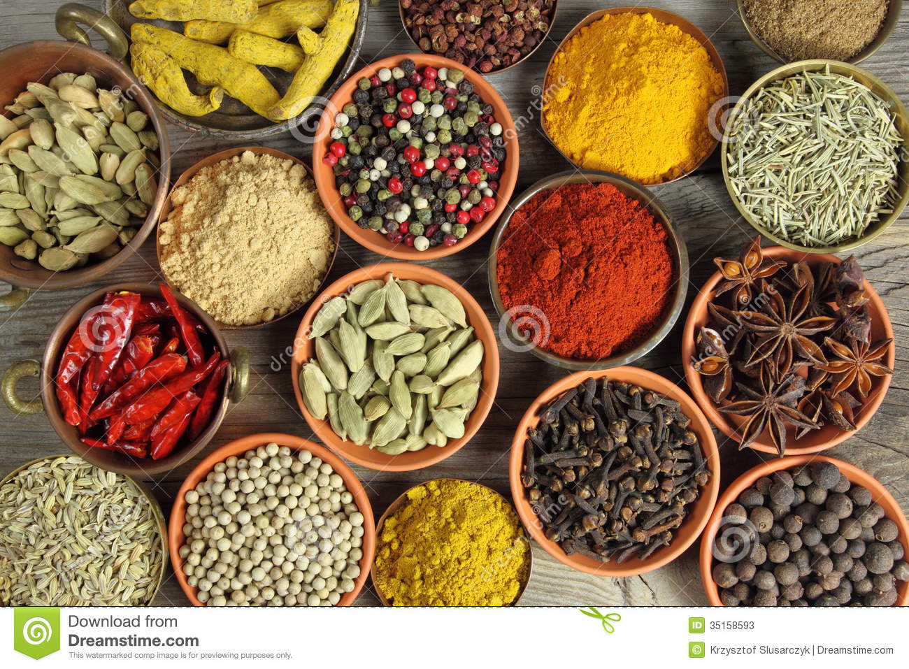lovely colorful kitchen | Spices Stock Photos - Image: 35158593