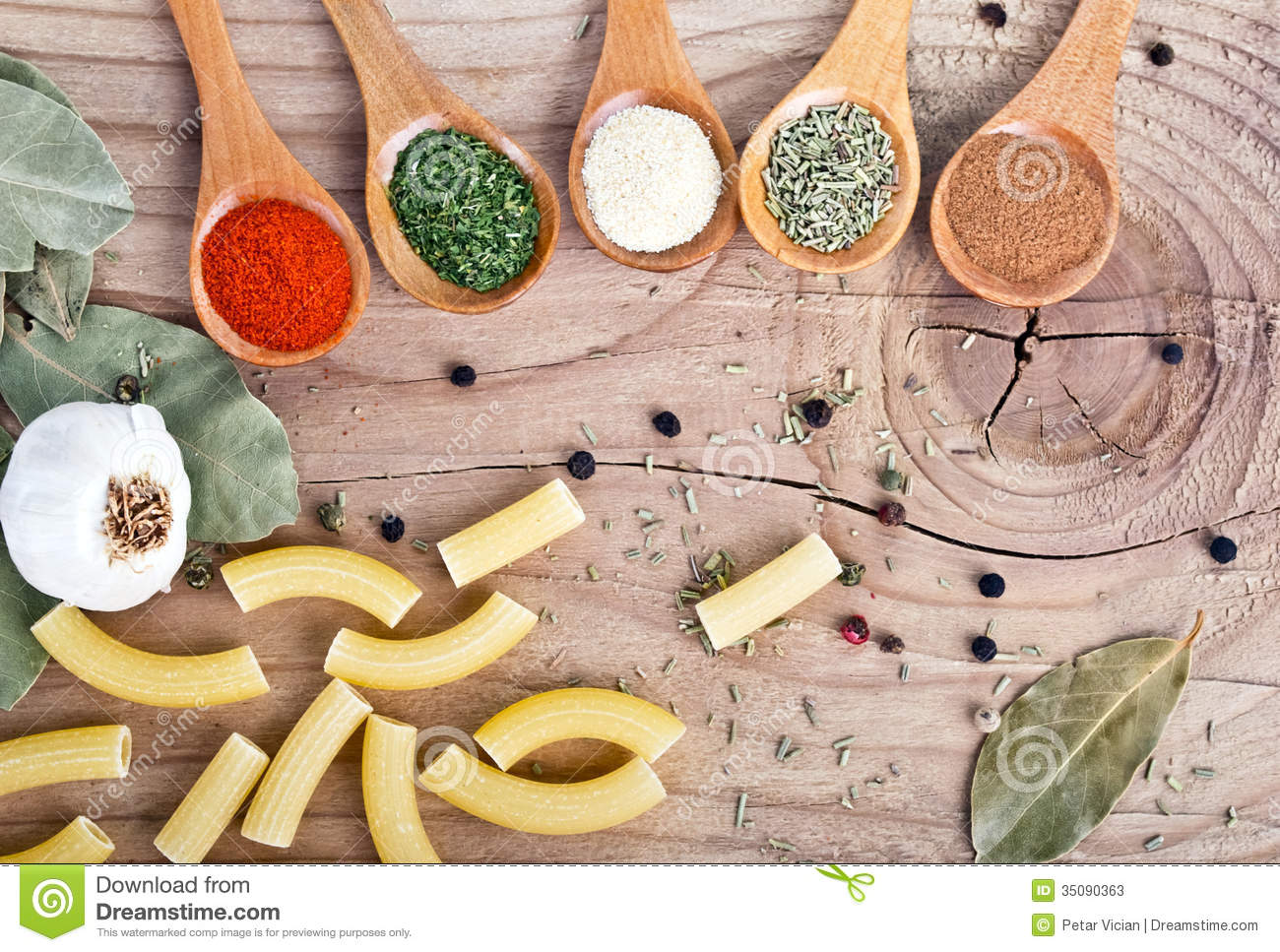 Spices food preparation on table food ingredients stock for Cuisine wooden